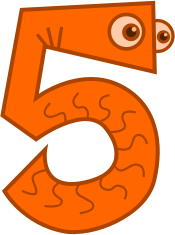 number,cartoon,math,numeral,counting,five