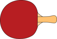 racquet,sport,paddle,table tennis,red