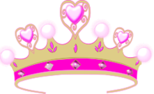 crown,princess,pink heart,pink heart