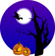tree,pumpkin,witch,moon,scene,bat,animal,halloween,halloween2010