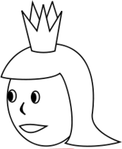 queen,line art,black and white,coloring book,outline,head