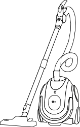 vacuum cleaner,line art,outline,coloring book,black and white