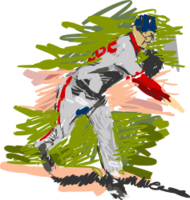 sport,people,baseball,man,pitcher,impressionism,sports2010,sport