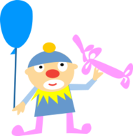 people,clown,man,balloon,cute,cartoon,cartoony,character,character design,job,happy,character,job