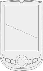 line art,black and white,pda,smart phone,handheld,touch screen,pocket,computer,device