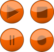 orange,glossy,gloss,button