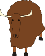 brown,yak,animal,alphabet,simple,mammal,megafauna