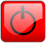 shutdown button,button,red,gloss,glossy,icon