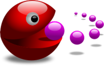 pacman,gloss,glossy,orb,glow,eat,ball,icon,game