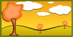 fall,landscape,scene,cloud,field,tree,comic,icon,3d,fall2010,inky2010,vector,clip art,3d