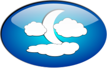 moon,cloud,landscape,gloss,glossy,icon,moon,cloud,clip art,inkscape