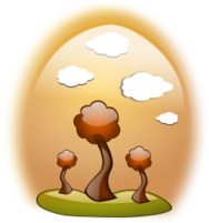 landscape,fall,scene,autumn,noon,tree,glossy,gloss,icon,grass,cloud,cloud,fall2010,inky2010,vector,clip art