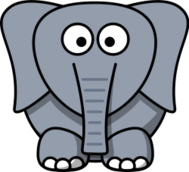 remix,cartoon,elephant,animal,mammal,africa,india,clip art,media,public domain,image,png,svg