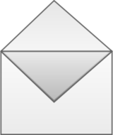 email,mail,envelope,post,newsgroup,note,icon,black and white,send,action,photorealistic,media,clip art
