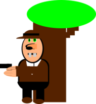 cartoon,person,man,tree