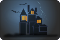 ghost,haunted,haunting,halloween,storm,house,bat
