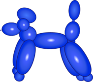 balloon,dog,animal,poodle,kid,party,clown