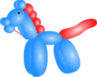 balloon,horse,animal,party,clown