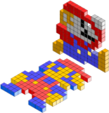 axonometric,mario,bros,game,block,fun,pixel,art