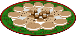 cooky,plate,food,dessert,buckeye,candy,christmas,cooky,buckeye