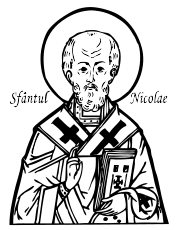 sfantul nicolae,saint,nicholas,nicolae,st,coloriage,color,black and white,lineart,coloring