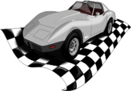 corvette,classic car,cool,checker flag,transportation,photo realistic,classic car