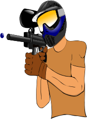 paintball gun,helmet,paint ball