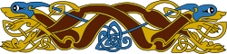 celtic,norse,viking,knot,mythology,history,motif,animal,blue,yellow,brown,design