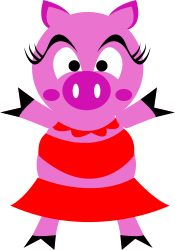 pig,pink,character,comic,cartoon,animal