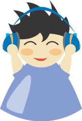 boy,headphone,music,listen,man,character,cartoon,anime