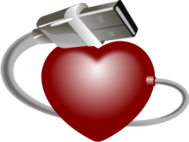 heart,usb,conection,global,computer,life,usb