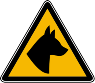 sign,roadsign,humor,dog,hazard,caution