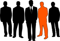 men,silhouette,orange,business,group,people