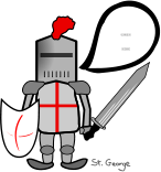 st george. holiday,warrior,armour,knight