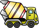 cement,mixer,truck,car,vehicle,architecture,building,construction,cartoon