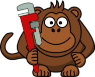 cartoon,monkey,wrench,monkey wrench