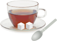 glass,cup,saucer,tea,spoon,sugar cub,sugar,meticulous,remix,cub,beverage,drink,photorealism