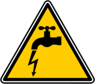 danger,electric,faucet