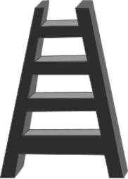 black and white,ladder