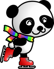 sport,skating,skate,animal,cartoon,panda,muffler,sport,skate