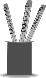 pencil,stand