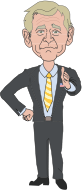 bush,george,president,suit,cartoon,face,man,tie,thumbs up,thumb,president,bush,george