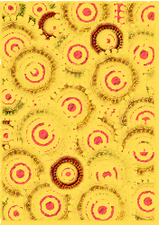 yellow,red,card,scrapbook,circle,pattern