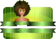 afro,girl,border,carnival,carnaval,green,afro,girl,border,green