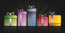 gift,present,blue,red,green,yellow,orange,purple,violet,color,colorful,pattern