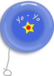 vintage,yo yo,toy,blue,star,yellow,string,fun,child,play,vintage,yo yo,svg,inkscape