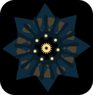 decorative,star,button,black,brown,contrasting,icon,mandala,image,png,svg