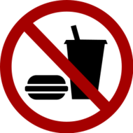 no,food,drink,sign,roundel,round,notice