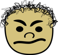 face,comic,angry,curly,head,icon,avatar,comic
