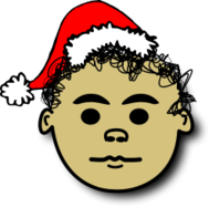 christmas,comic,face,curly,head,hat,santa claus,papa noel,icon,avatar,bonnet,comic